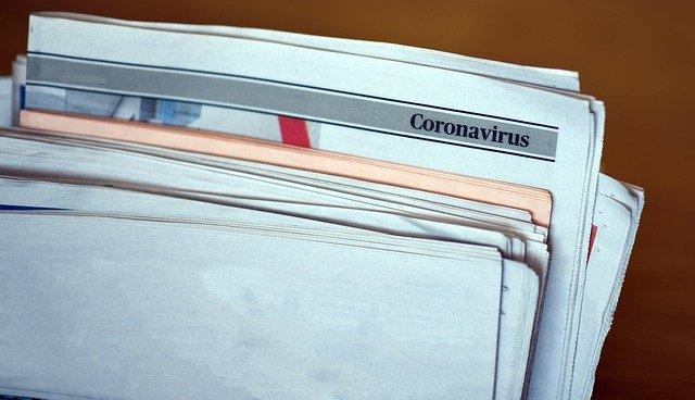 コロナウィルスの文字